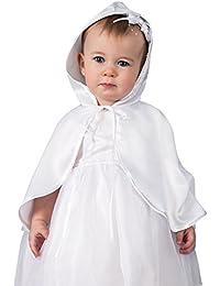 Cape de baptême avec capuche bébé - PRODUIT STOCKÉ ET EXPÉDIÉ RAPIDEMENT DEPUIS LA FRANCE