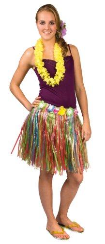 Hawaii Bastrock bunt (45 cm) (Kostüm Müllsack)
