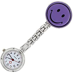 Meta-U Smile Face Pocket Watch-Purple