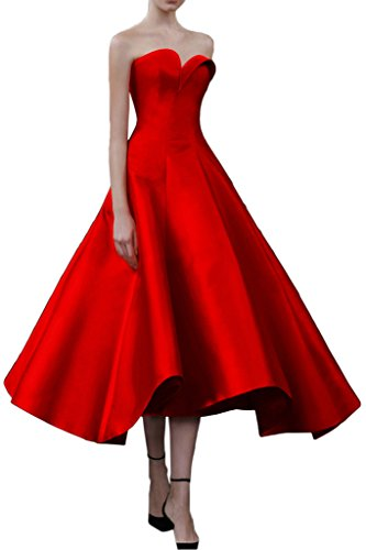 Promgirl House - Robe - Trapèze - Femme Rouge