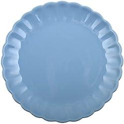 """Farbauswahl (mit gratis Knoblauchschäler) - Ib Laursen """"Mynte"""" Speiseteller Ø 28cm und Suppenteller Ø 21cm (Speiseteller Ø 28cm, Blau (Nordic Sky))"""