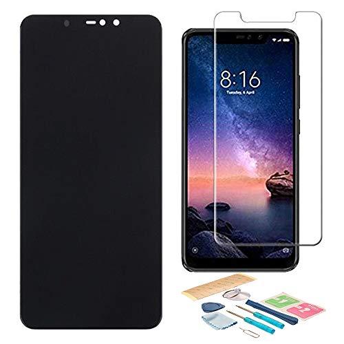 Pantalla LCD Táctil Asamblea Repuesto Compatible con Xiaomi Redmi Note 6 Pro con Herramientas + Protector de Pantalla + Adhesivo 3M (Negro)