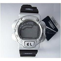 Umbro Herrenuhr Armbanduhr digital Uhr schwarz silber