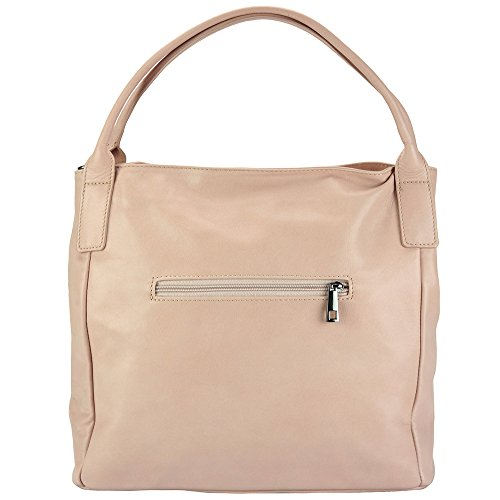 BORSA A SPALLA KENTIA IN PELLE MORBIDA DI VITELLO 3018 Rosa