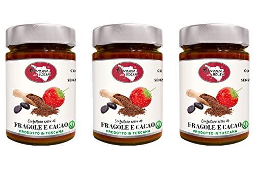 Confettura Extra di Fragole e Cacao Artigianale 3x320g Cucina Toscana