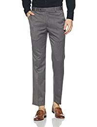 Park Avenue Men's Skinny Fit Cotton Formal Trousers
