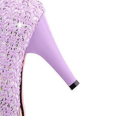 Les talons des femmes Printemps Été Automne Autres Partie synthétique & Robe de Soirée Casual Stiletto Heel Buckle Beige Violet Rose Pink