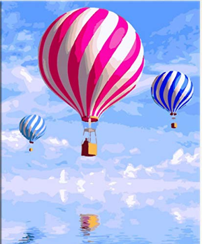 XKLZADE DIY Digital Painting Hand-Painted Wall Art Home Decoration Hot Air Balloon No Frame 40 * 50Cm