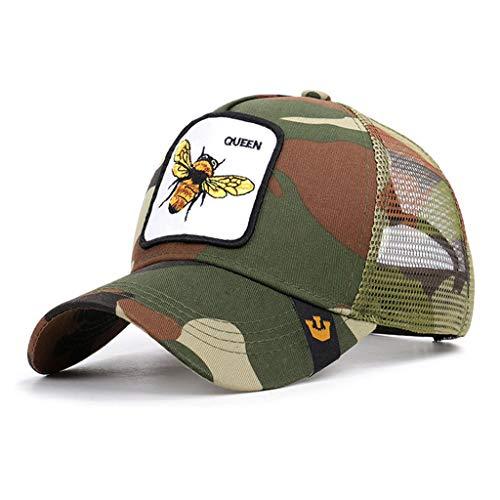 Imagen de osfanersty unisex verano bordado queen bee animal parche  de béisbol malla transpirable volver ajustable hip hop deporte snapback sombrero camionero