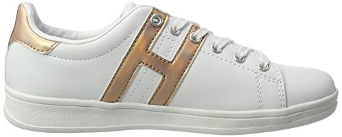 H.I.S Damen 16mcb002 Sneakers Weiß (white/bronce)