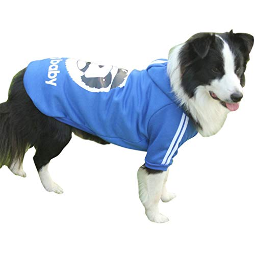 GODGETS Hunde Warm Hoodies Mantel Kleidung Pullover Haustier Welpen T-Shirt mit Panda-Avatar,Blau,(45×65×40 cm)