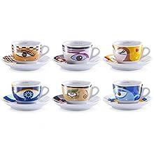 Zeller Magic Eyes 26511 Set Cappuccino 12 Pezzi