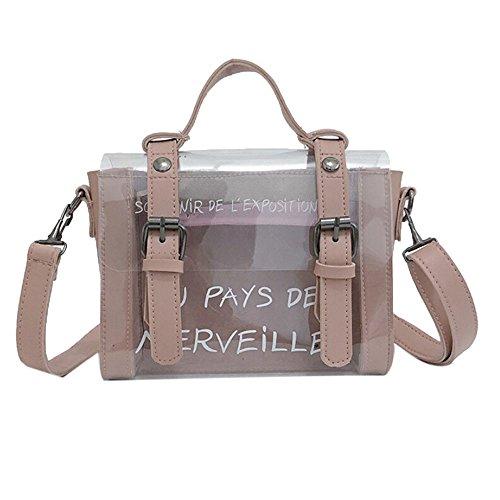 Zolimx Damen Mode Schulter diagonal Tasche, Mode Frauen Mädchen Mini Kleine Umhängetasche Transparente Mädchen Niedliche Tasche Handtaschen Drucken (Rosa)