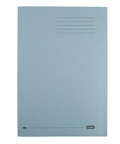 Elba 20313 Aktendeckel, aus recyceltem schwerem Karton, 290 g/m², Foolscap-Format, Blau, 100 Stück A4 blau