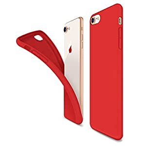 coque iphone 8 silicone rouge