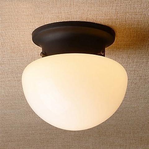 KMDJ País de estilo retro Mini Seta Montaje Empotrado Accesorio con techo de vidrio esmerilado cocina pasillo de entrada de sombra ,