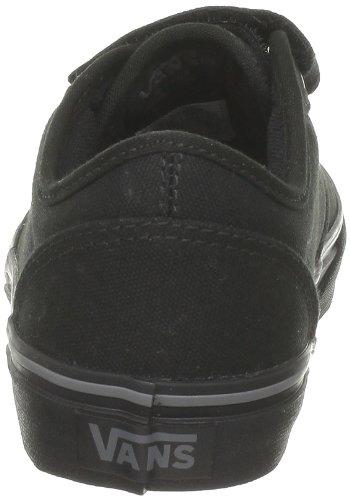 Vans Y Atwood V, Jungen Sneakers Schwarz (Canvas Black)