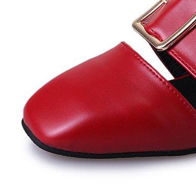 LvYuan Sandali-Formale Casual-Comoda-Quadrato-PU (Poliuretano)-Nero Giallo Rosso Bianco Black