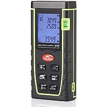 armmi avanzada telémetro medida, Mini de mano medidor de distancia láser, medición de recordar, 131pies/40metros, con 4modos de Pitágoras/volumen/área/modo de distancia, encendido/apagado automática de la retroiluminación, calibración autoadhesivo, apto para uso interior y exterior