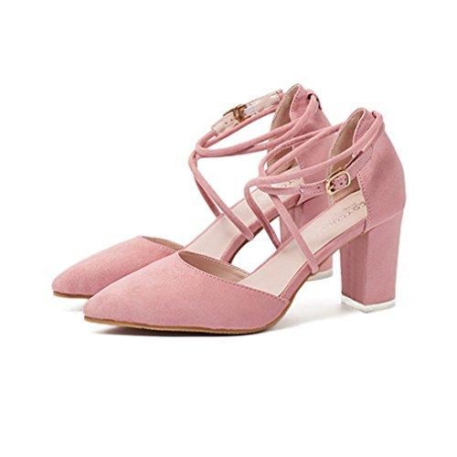 Damen Pumps Einfach Schick Bequem Atmungsaktive GummisohleFlexibel Rutschfest Abriebfeste Pink