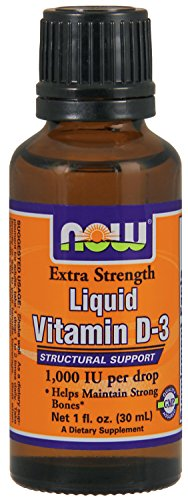 Now Foods Ex Str Liquid Vitamin D-3 1,000 IU Drop, 1 Ounce by Now Foods