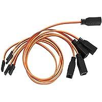 Vbest life 5pcs JR Macho a Hembra Y línea de extensión 30 cm 22AWG línea Tricolor Cable PVC Conector RC(Marrón Rojo Naranja)