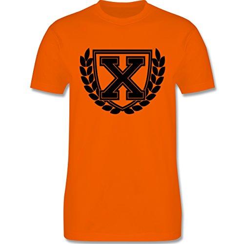 Anfangsbuchstaben - X Collegestyle - Herren Premium T-Shirt Orange