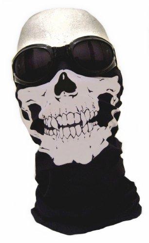 Halloween Billig Kostüm Einfach - WAWO Neu Skeleton Schädel Bandana Snowboard Skifahren Motorrad Biking Rave Maske Paintball