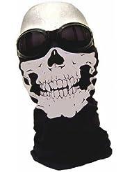 PURECITY© Lot de 2 Tour de Cou Masque Cagoule Tete de Mort + Wood Digital Camouflage - Style Call Of Duty Advanced Warfare Battlefield Hardline PS4 PS3 Xbox One Airsoft Paintball Moto Ski Surf Quad Scooter