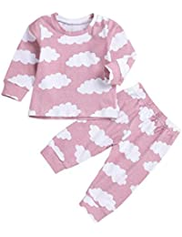 K-youth Ropa Bebe Otoño Invierno Infantil Recién Nacido Niño Casual Nube  Impresión Camisas de Manga Larga Pijama Moda Tops +… d2f9e332383