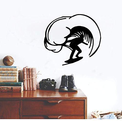 Wandsticker Aufkleber Wohnzimmer Garderobe Flur Fenster Wohnung Kinderzimmer Badezimmer Am Coolsten Surfen A 43X39Cm