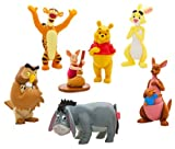 Disney SET 7 PERSONAGGI PVC WINNIE THE POOH ANCHE DECORAZIONE TORTE