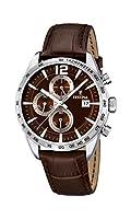 University Sports Press F16760/2 - Reloj de cuarzo para hombre, con correa de cuero, color marrón de University Sports Press