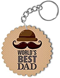 YaYa Cafe Fathers Day Gifts Worlds Best Dad Keychain Keyring For Father