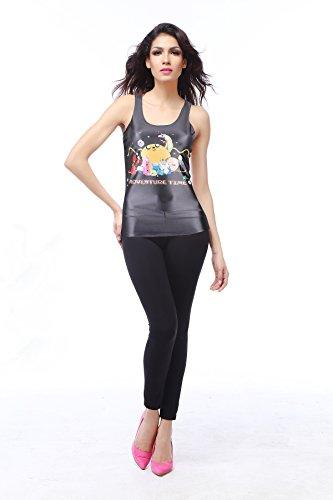 THENICE Damen Reizvolle dünne Muskelshirt ärmellos T-Shirt Weste Adventure