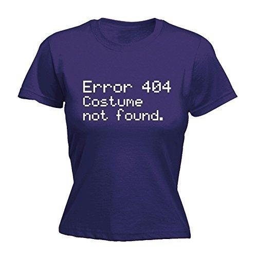 123t Women's 404 Fehler-Kostüm, T-SHIRT nicht gefunden - XXL, Violett - Violett (404 Fehler Kostüm Nicht Gefunden)