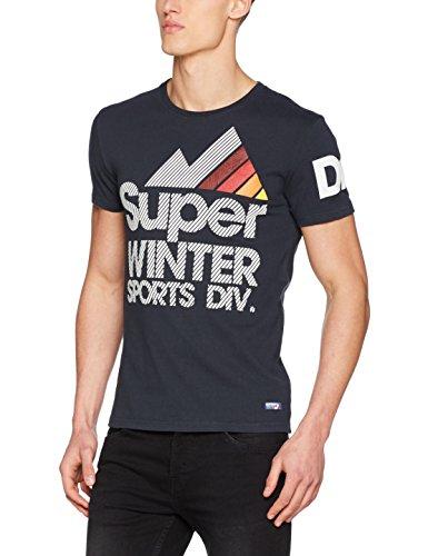 Superdry Herren T-Shirt Blu (Eclipse Navy)