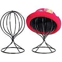 Modern Metal Hat Stands Hollow Balloon Design Tabletop Decorative Wig Holders Cap Holder Stand Display Tool Wig Holder