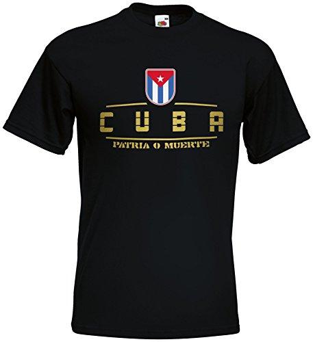 AkyTEX Kuba Cuba Fanshirt T-Shirt WM2018 Schwarz XXL