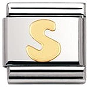 Nomination Composable Classic Buchstaben Edelstahl und 18K-Gold (S) 030101