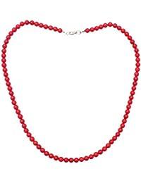 Collier de 60 cm composé de Corail rouge en perle de 7mm
