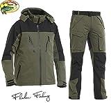 Fladen Fishing Authentic 2.0 Outdoor & Angel Anzug - Grün-Schwarz - Jacke + Hose Atmungsaktiv...