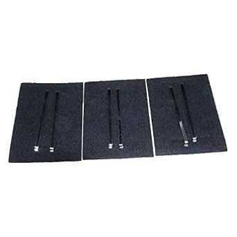 Lot de 3 filtres charbon (kit ak204ae1) ad539 dhd90 dhd129 dhd519 dhd549 dhd709 dti199 shd51 shd533 shd535xf1 shd654 dhd519be1 dhd519xe1 dhd319we11 shd54ef22 shd54ef23 hotte brandt ad919x