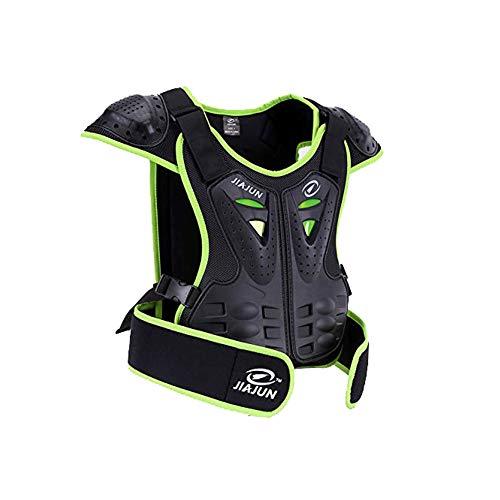 METTE Motorrad-Schutzweste, Sport Motocross MTB Racing Body Armor Protector Rückenschutz Anti-Fall-Atmungsaktive Jacke, Ritter Spezialschutzausrüstung,Green,S