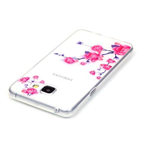 LOOKAY Coque Galaxy J5 2016,Etui Ultra Mince Housse Silicone Transparent pour Samsung Galaxy J5 2016 Coque de Protection en TPU avec Absorption de Choc Bumper et Anti-Scratch, Plume colorée 11HUA