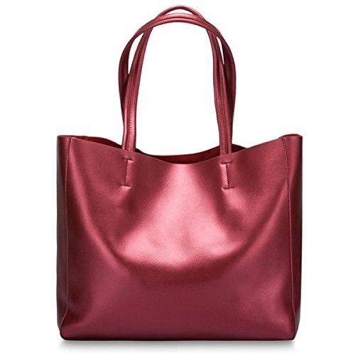 Damen Klassische Handtaschen-Schulter-Beutel-Handtaschen-Beutel-Art- Und Weiseelegante Lederne Große Beutel-Perlen-Leder-beiläufige Dame-Beutel C