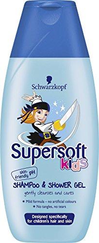 Schwarzkopf supersanftes Haar-Shampoo und Duschgel für Kinder, Jungen, 250 ml, 5er Pack (5 x 250 ml)