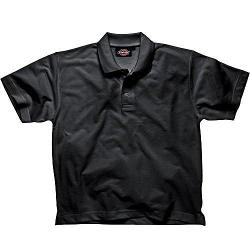 Dickies Polo - Shirt schwarz BK 4XL, SH21220 (Poly-baumwolle-shirt Ärmeln)