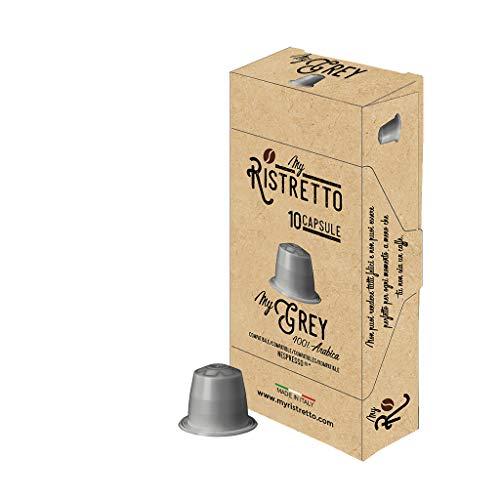 100 Cápsulas de Café compatibles Nespresso sabor Café MyGrey - 100% Arabica - MyRistretto