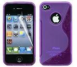 HENGHUA iPhone 6Plus caso Tpu Gel silicona Funda para iPhone 6Plus (5,5) funda transparente Clear Back, plástico, morado, iPhone 4/4S